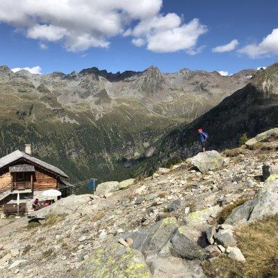 Almhütte mit Bergsicht