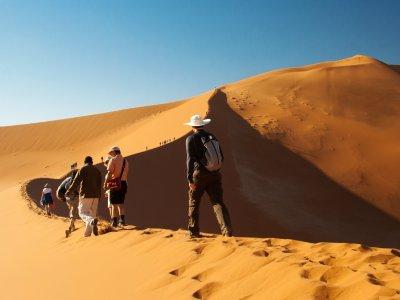 Wanderer auf der Düne