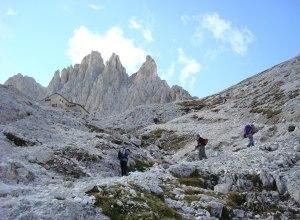 Typische Felsen der Dolomiten