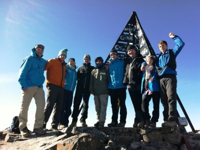 Marokko Toubkal Gipfel