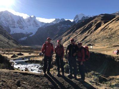 Die Hagens beim Trekking