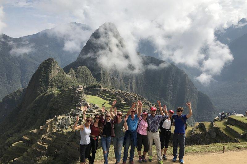 Gruppe bei Machu Picchu