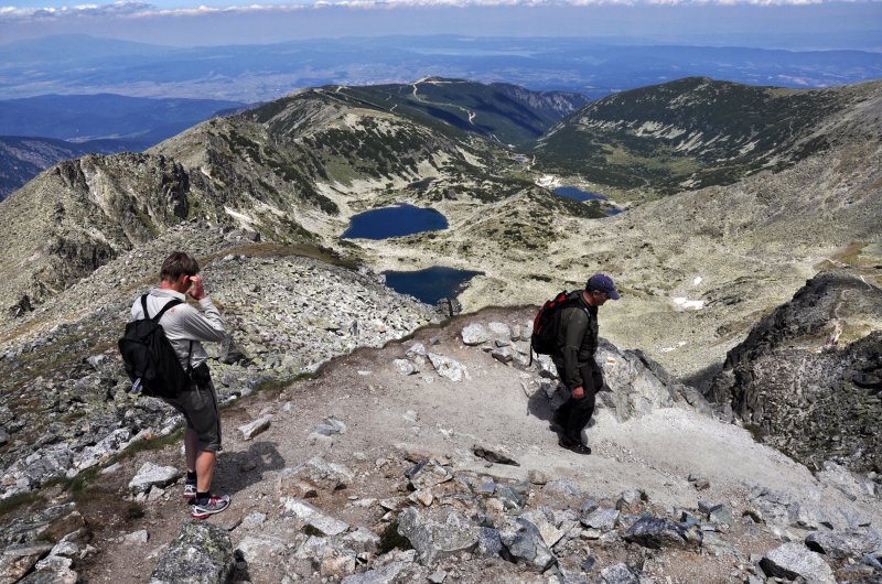 Ausblick vom Gipfel des Musala