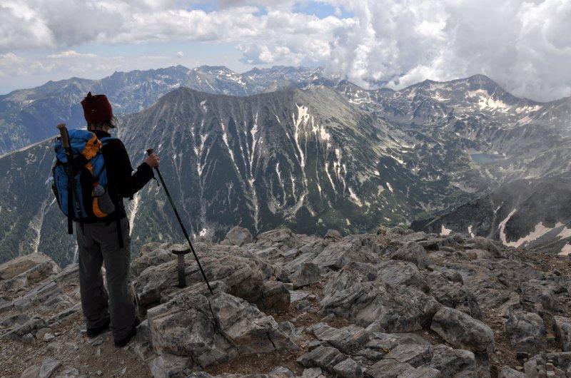 Ausblick vom Gipfel des Vihren