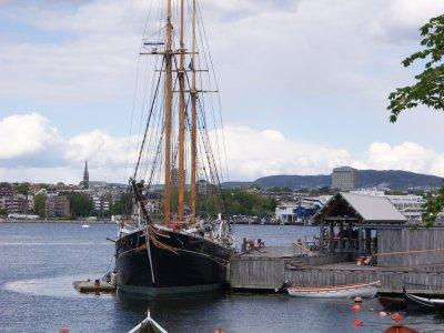 Segelschiff in Oslo