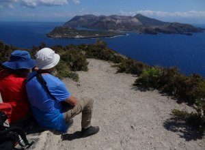 Blick auf die Insel Vulcano