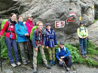 E5 Kinder Aufstieg zur Braunschweiger Hütte