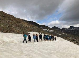 Aufstieg zur Similaun Hütte durch Seefeld