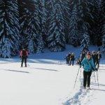 Gruppe vor Winterwald Silvester 2019
