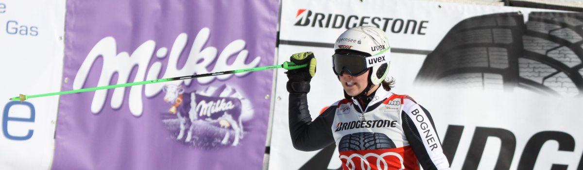 Viktoria Rebensburg mit Bestzeit im Riesenslalom