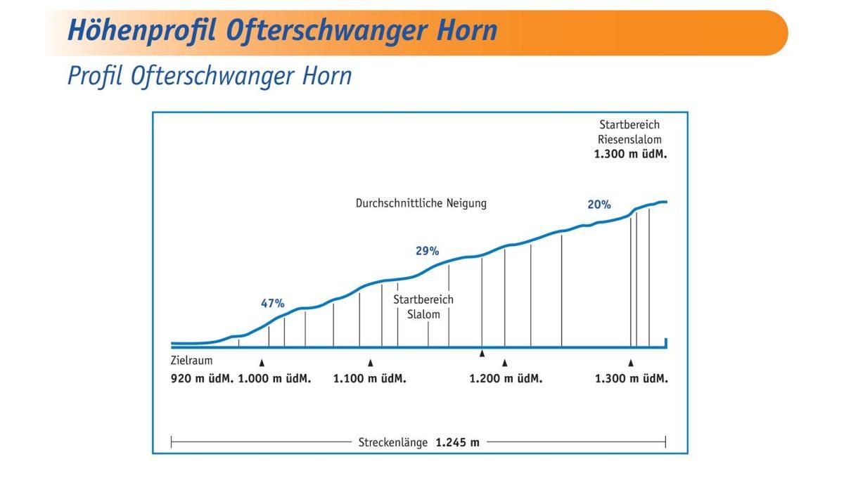 Höhenprofil Ofterschwanger Horn