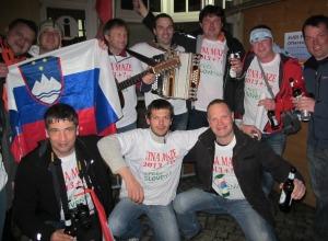Slowenische Fans