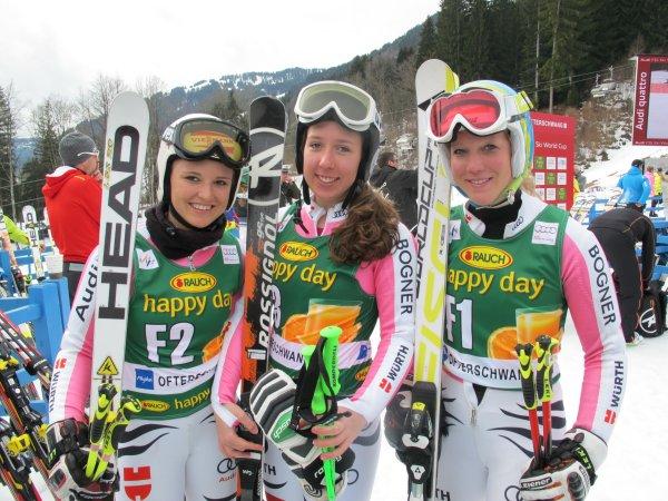 Ann-Kathrin Magg, Kira Weidle und Maren Wiesler