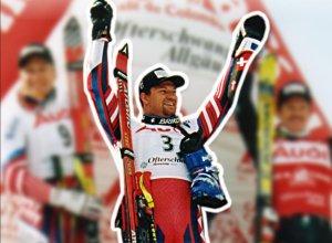 Stephan Eberharter - erster Weltcup-Sieger in Ofterschwang
