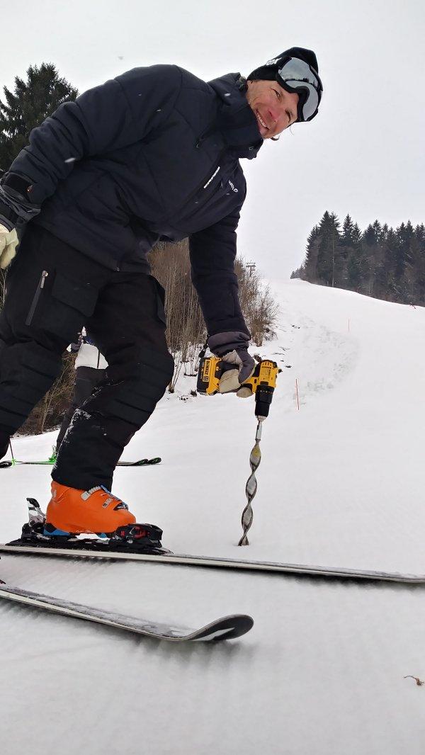 Markus Mayr bei der Snow-Control in Ofterschwang