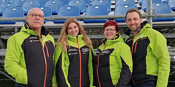 OK-Team Ofterschwang - v l n r Hanspeter Schratt Nathalie Mayr Johanna Waizmann Dominik Fritz