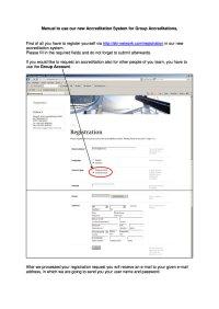 Gruppenakkreditierung / Group accreditation