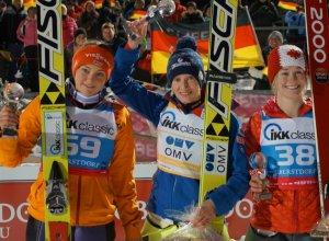 Siegerinnen beim Damen-Weltcup am Sonntag
