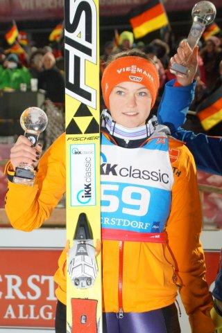 Carina Vogt, Zweite am Sonntag