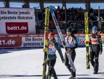Katharina Althaus, Ursa Bogataj und Maren Lundby