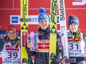 Siegerehrung Skisprung-Weltcup 16.02.2019