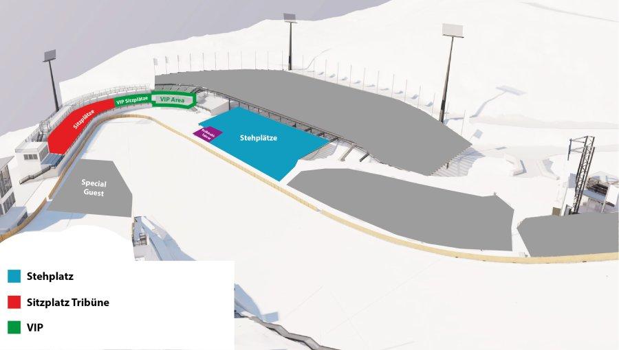 Stadionplan Weltcup Skispringen Damen