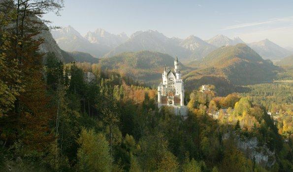 Neuschwanstein Herbst Panorama