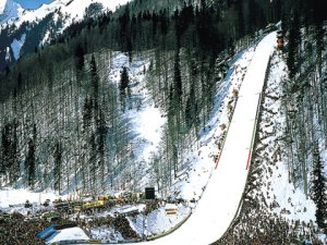 Skiflugschanze Oberstdorf Winter