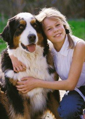 Mädchen mit Hund 1