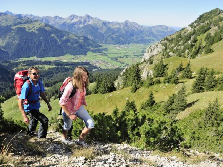 ... oder beim Wandern im Tannheimer Tal