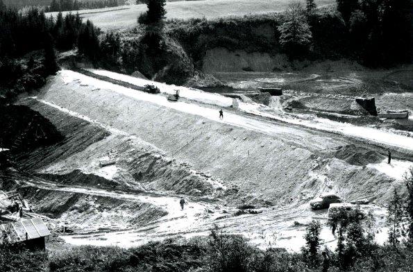 Bau des Staudamms 1959 - 1962