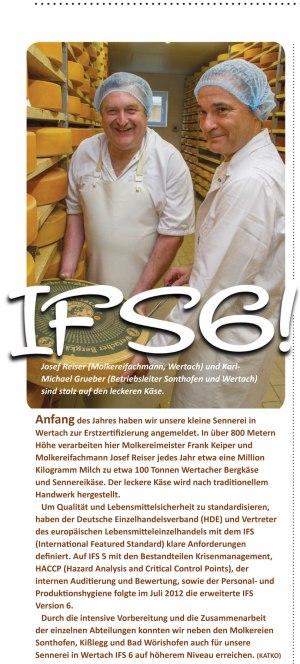 Arlasennerei Wertach Pressemeldung