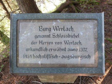 Gedenkstein Schloß Bichel