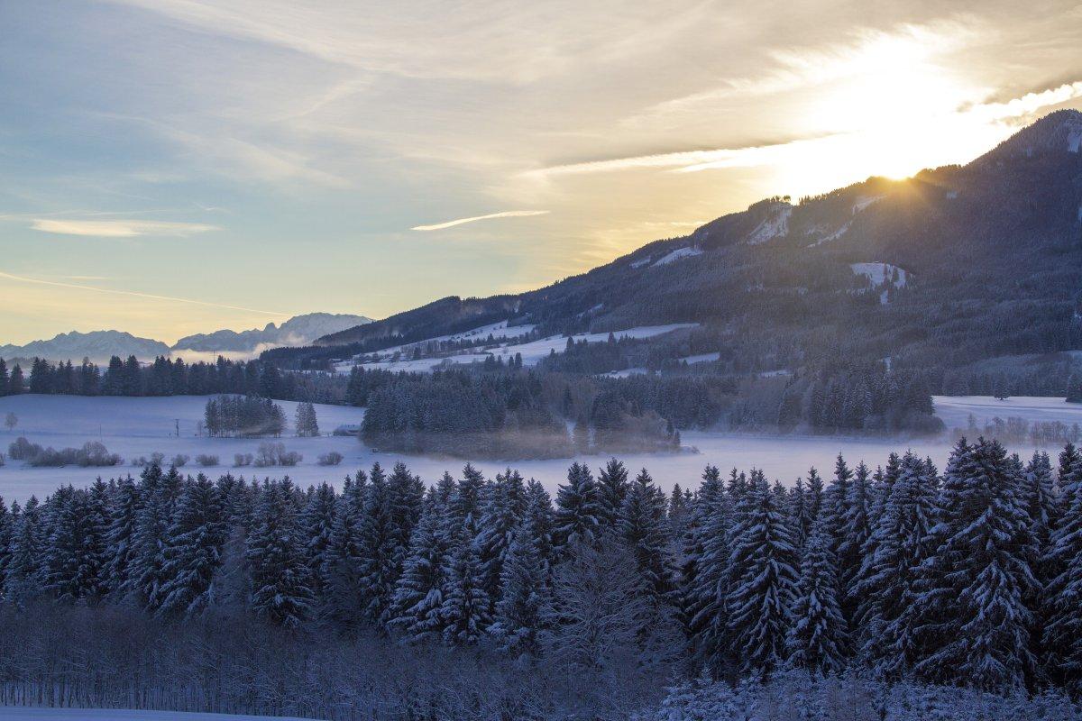 Wertach im Winter