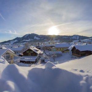 Winterpanorama Wertach