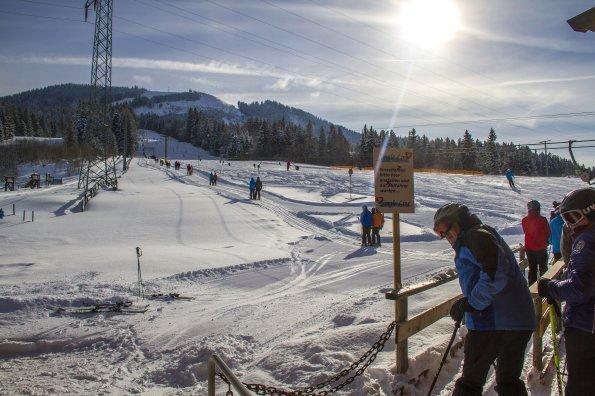 Skibetrieb am Buronlift