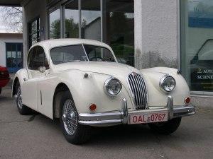 Gamsbartrallye Jaguar XK 1955 nach der Restaurierung