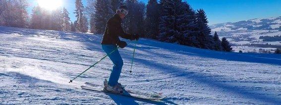 Skifahren am Buronlift