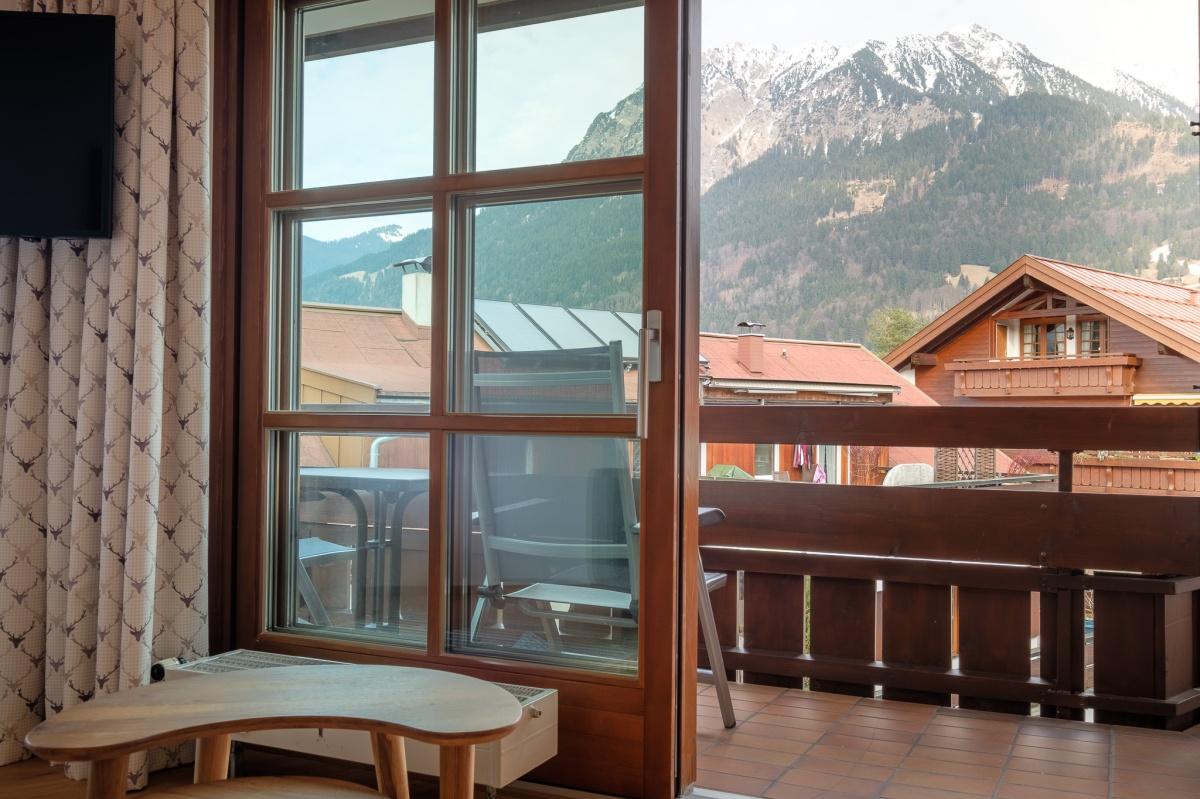Blick auf das Nebelhorn und die Talabfahrt