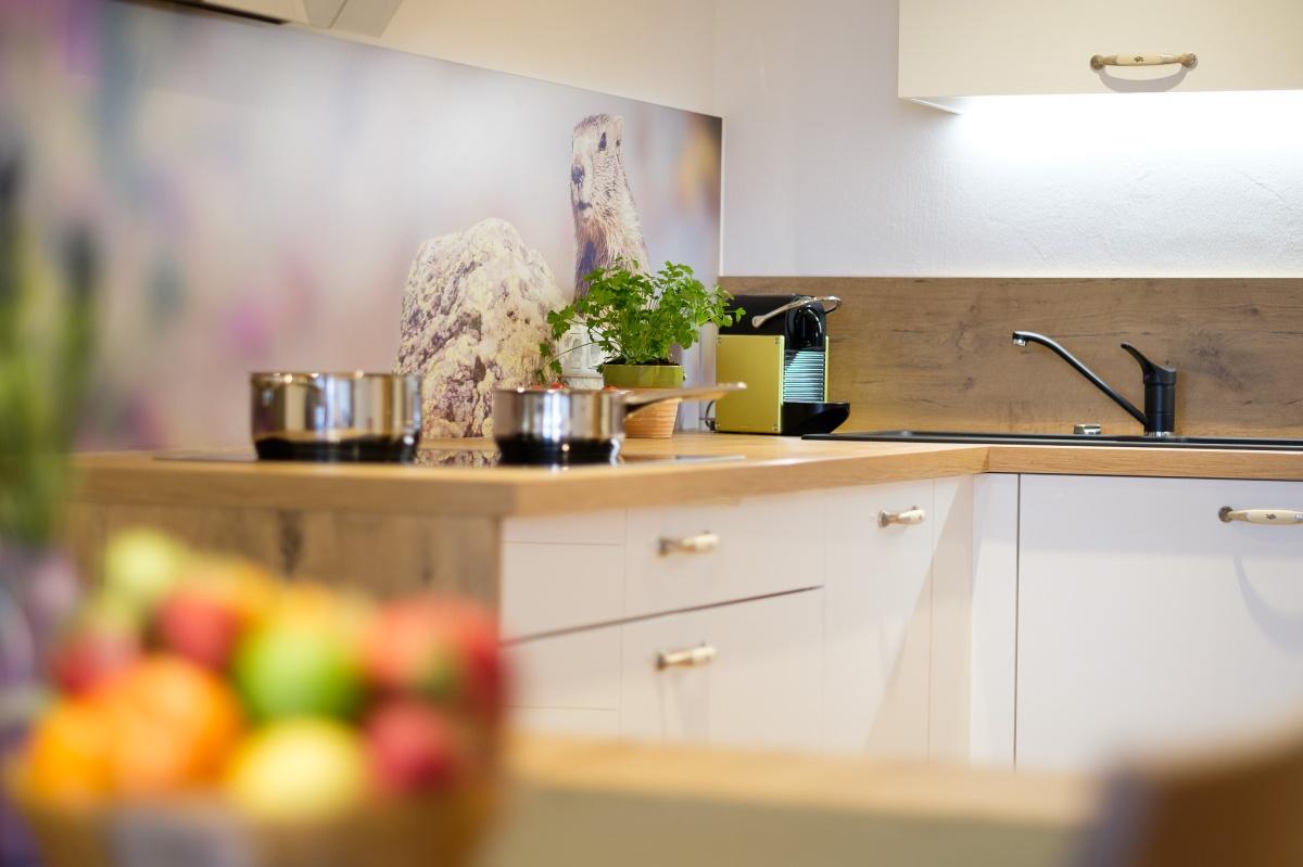 Moderne Küche im alpinen Style