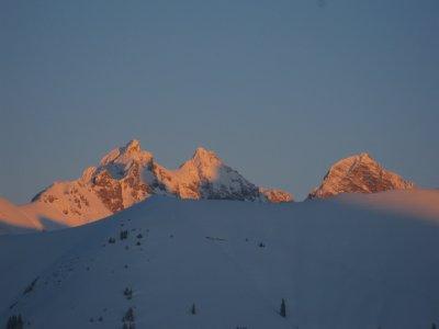 Ein wunderschöner Sonnenuntergang in unseren Bergen.