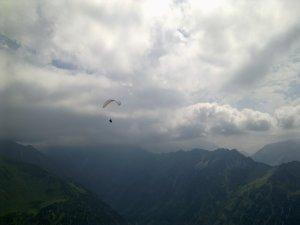 Gleitschirmflug über Oberstdorf