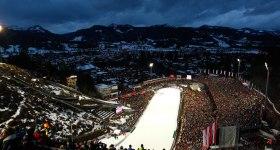 Volle WM-Skisprung Arena in Oberstdorf