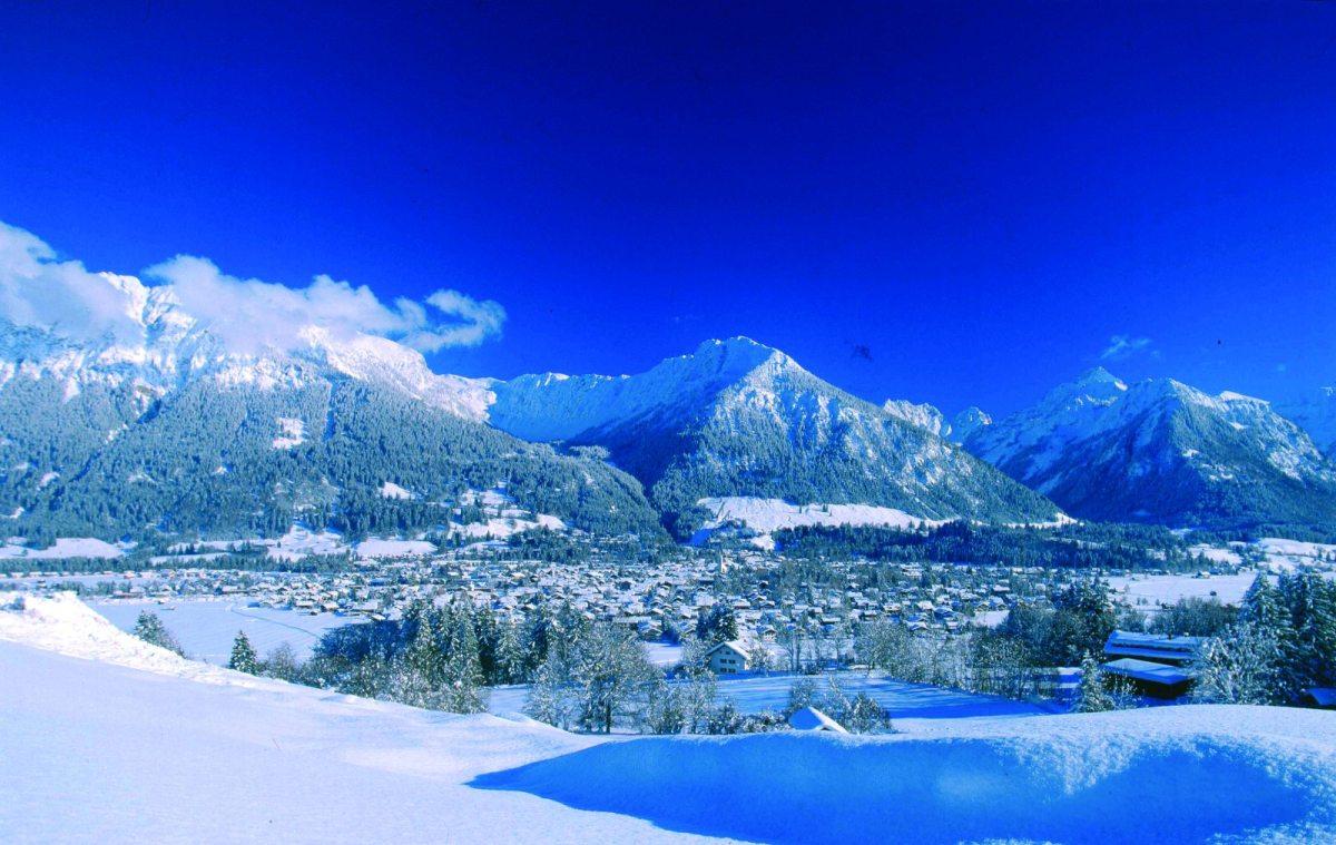 Oberstdorf im Allgäu in herrlichem Winterkleid