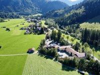 Luftbildaufnahme Wohnmobilstellplatz Bad Hindelang