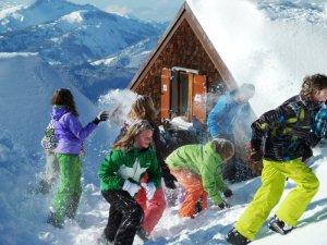 SchneeballSchlacht am Nebelhorn