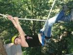 Hochseilgarten Action im Landschulheim