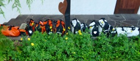 Unser Gepäck in Oberstdorf