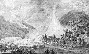 Feuerwehreinsatz beim grossen Brand von 1865