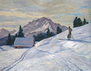 Skifahrer von Robert Curry